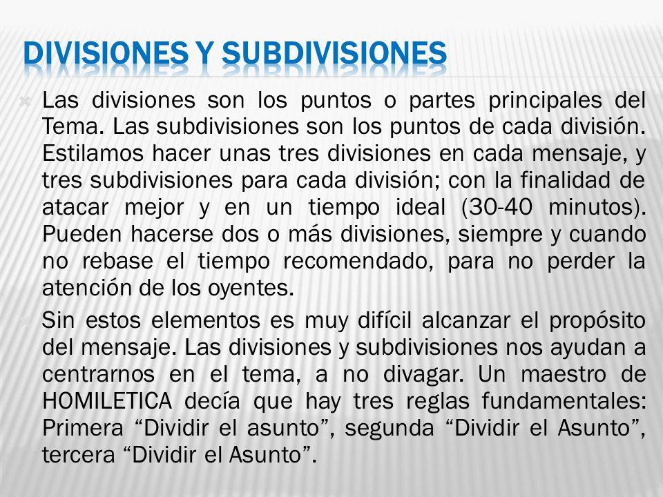 DIVISIONES Y SUBDIVISIONES