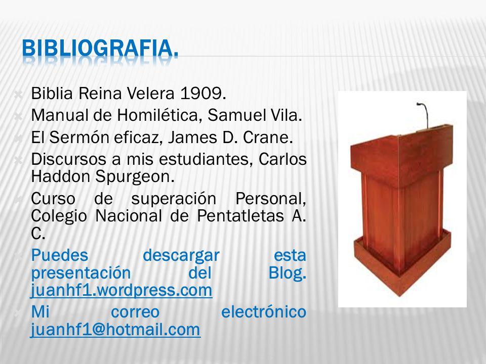 BIBLIOGRAFIA. Biblia Reina Velera 1909.