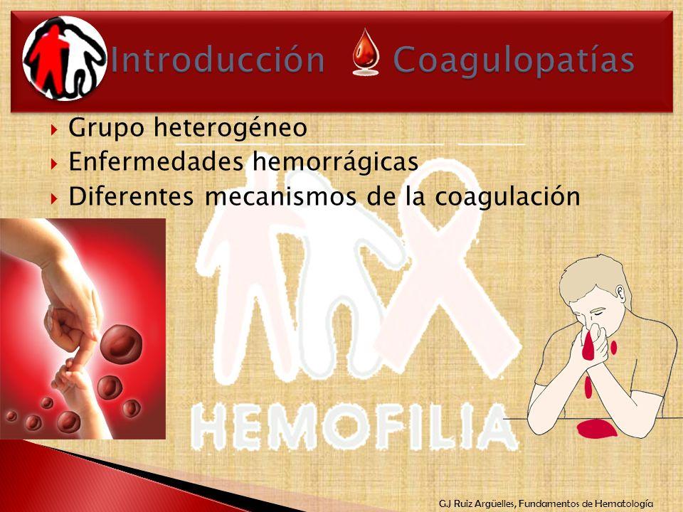 Introducción Coagulopatías