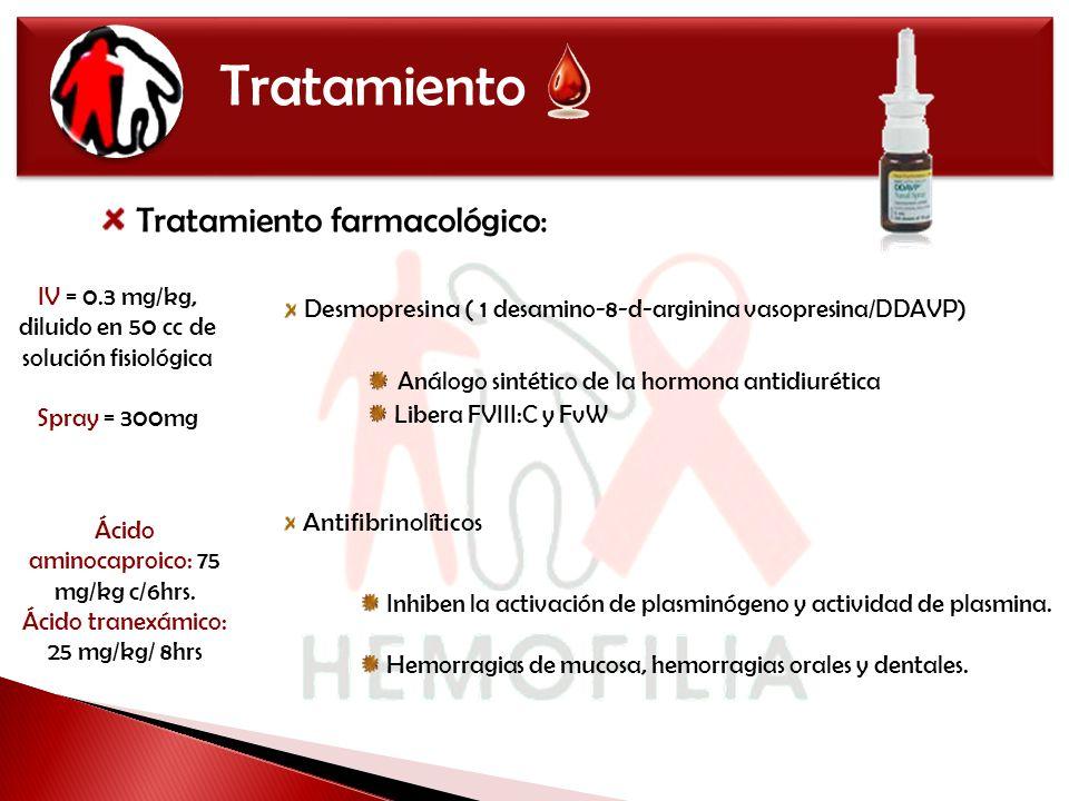 Tratamiento Tratamiento farmacológico: