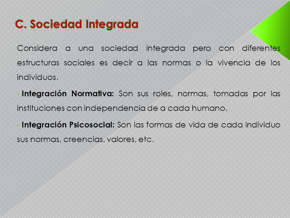 C. Sociedad Integrada