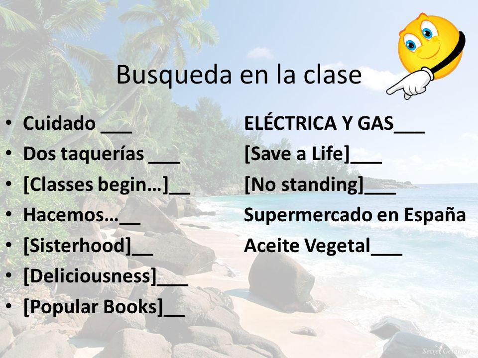 Busqueda en la clase Cuidado ___ ELÉCTRICA Y GAS___