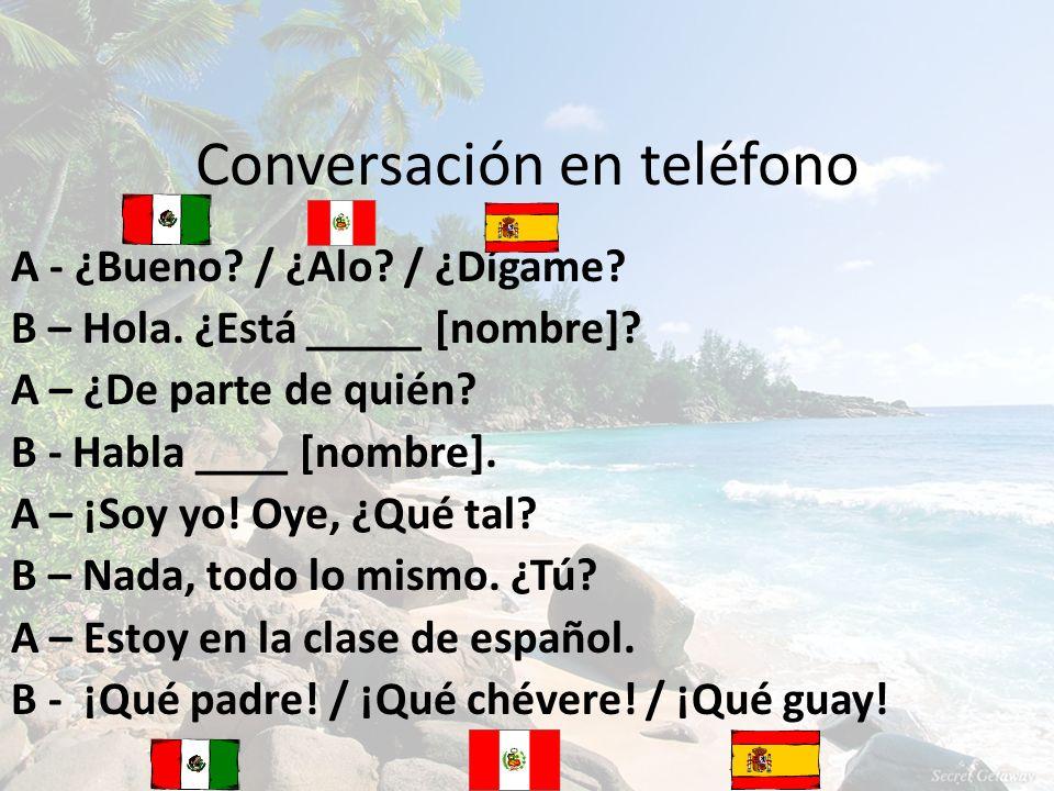 Conversación en teléfono
