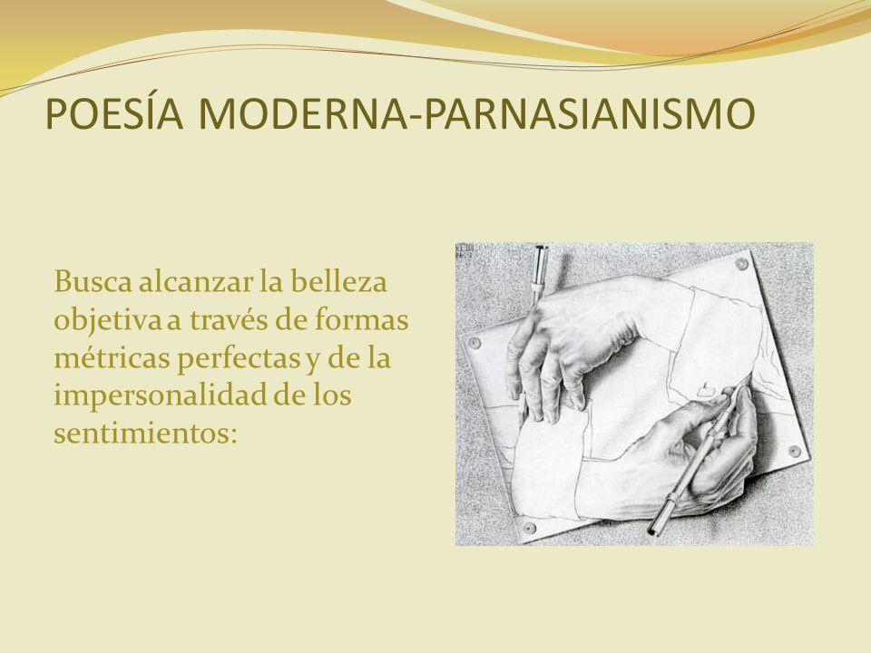 POESÍA MODERNA-PARNASIANISMO
