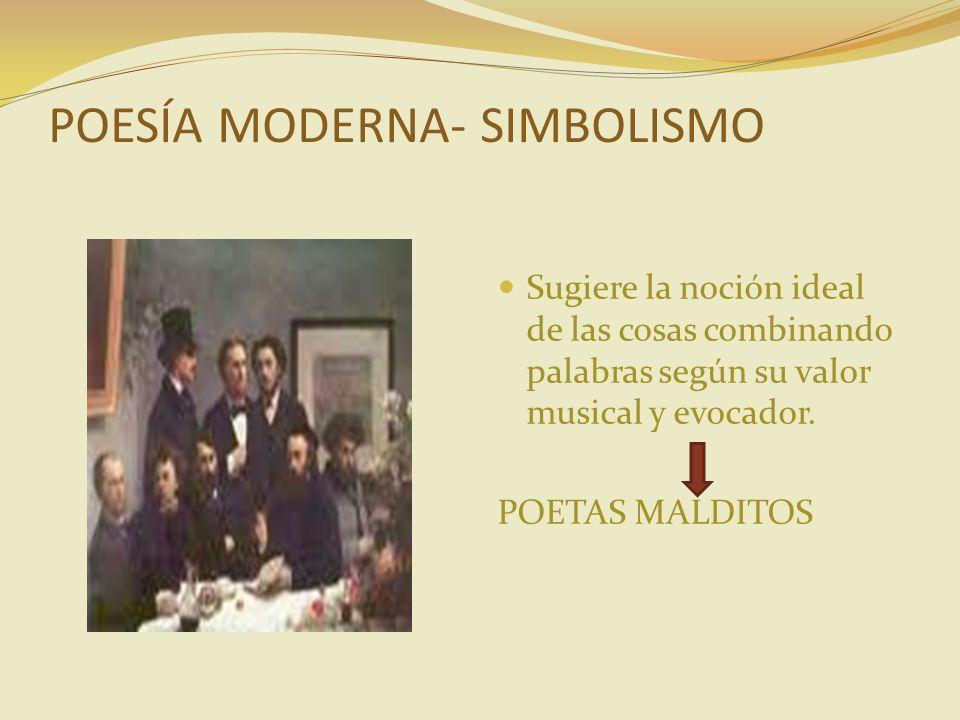 POESÍA MODERNA- SIMBOLISMO