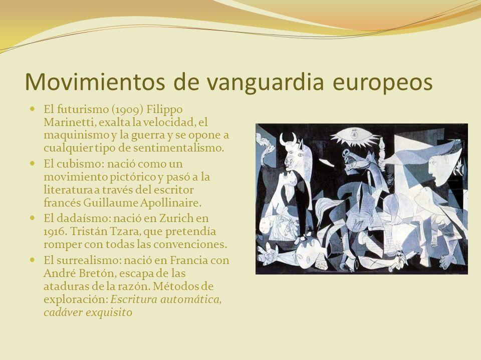Movimientos de vanguardia europeos