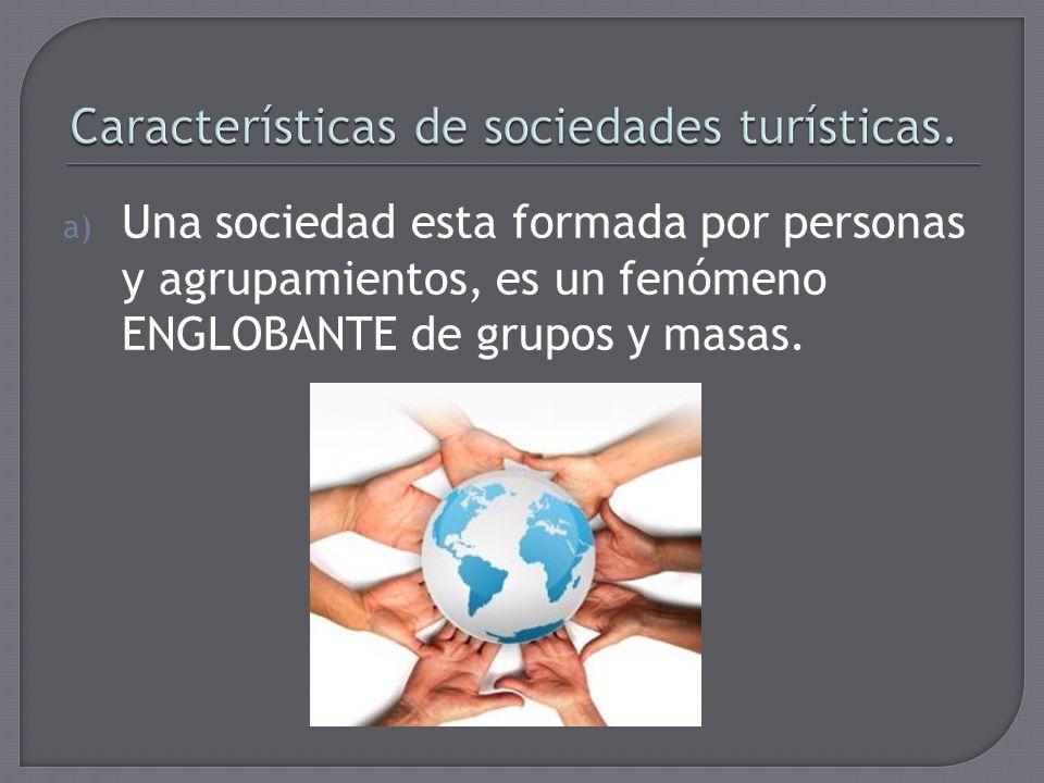 Características de sociedades turísticas.