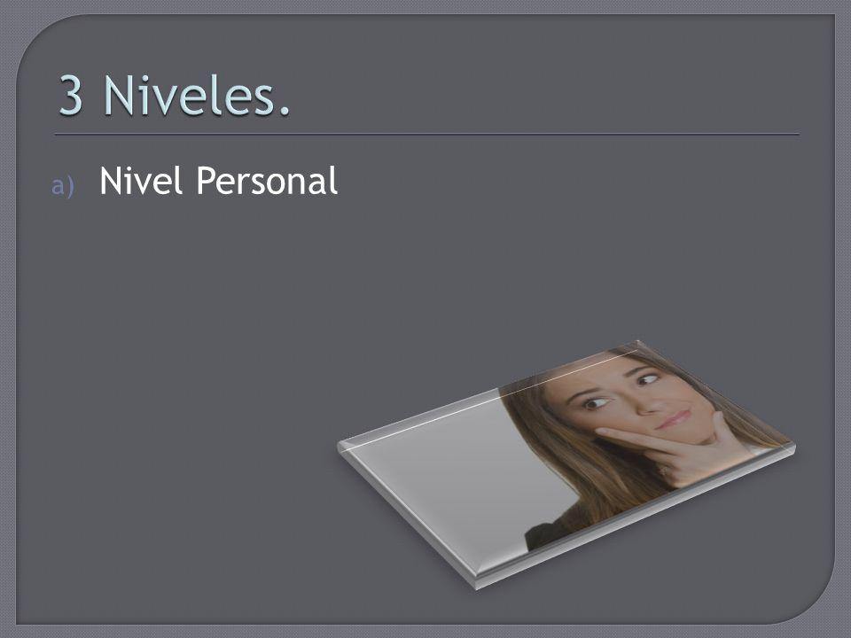 3 Niveles. Nivel Personal