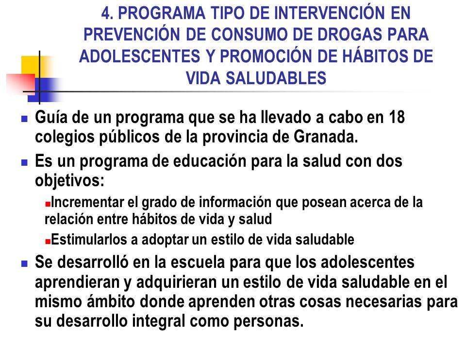 Es un programa de educación para la salud con dos objetivos: