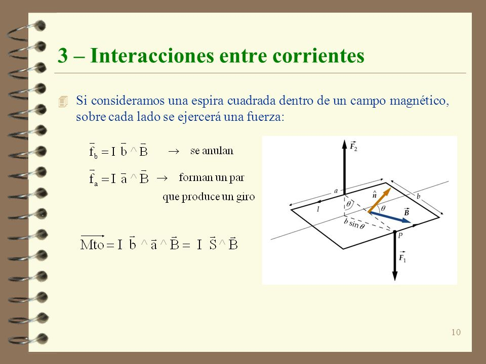 3 – Interacciones entre corrientes
