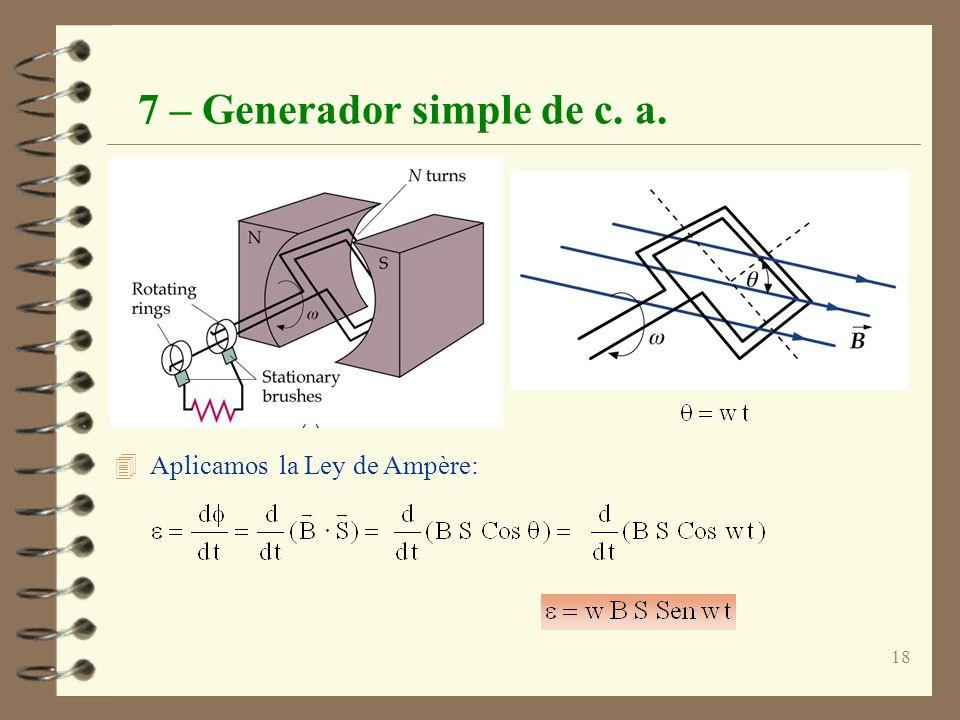 7 – Generador simple de c. a.