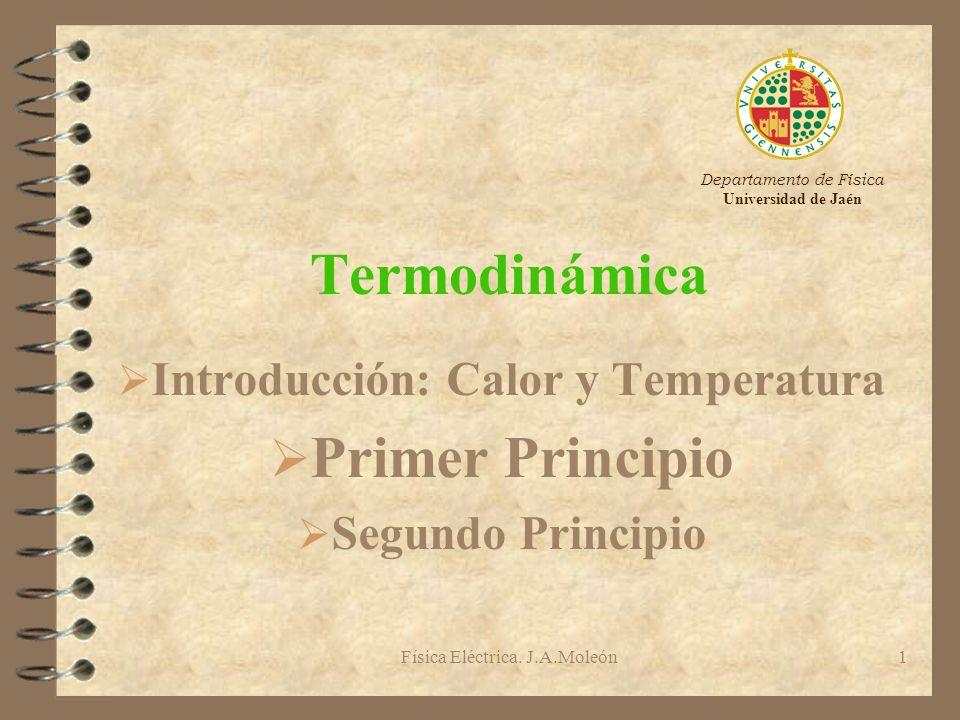 Introducción: Calor y Temperatura Primer Principio Segundo Principio
