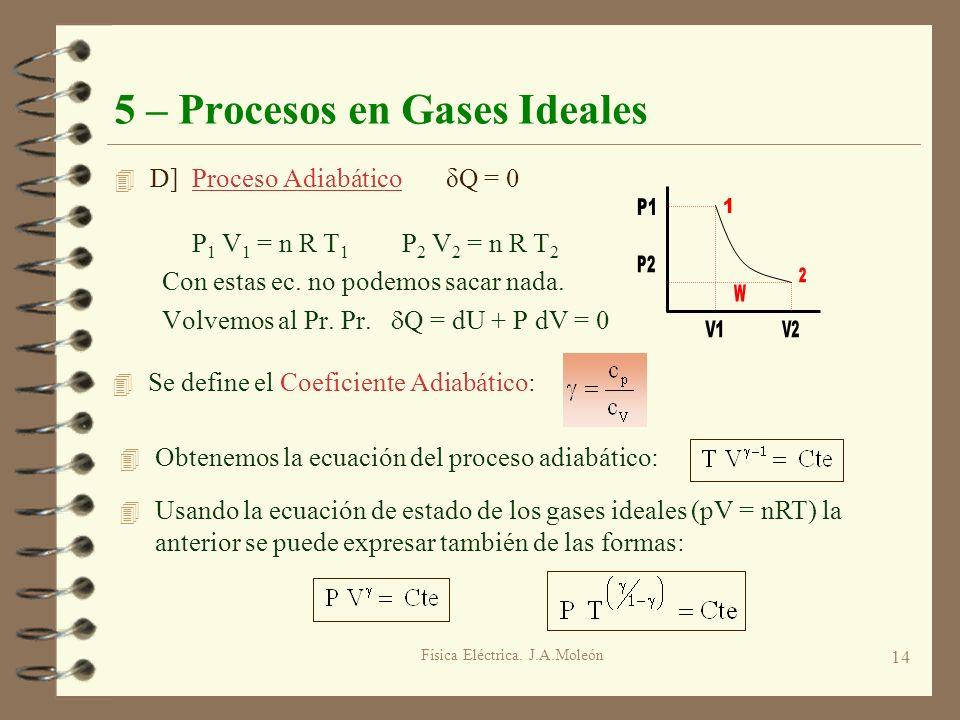 5 – Procesos en Gases Ideales