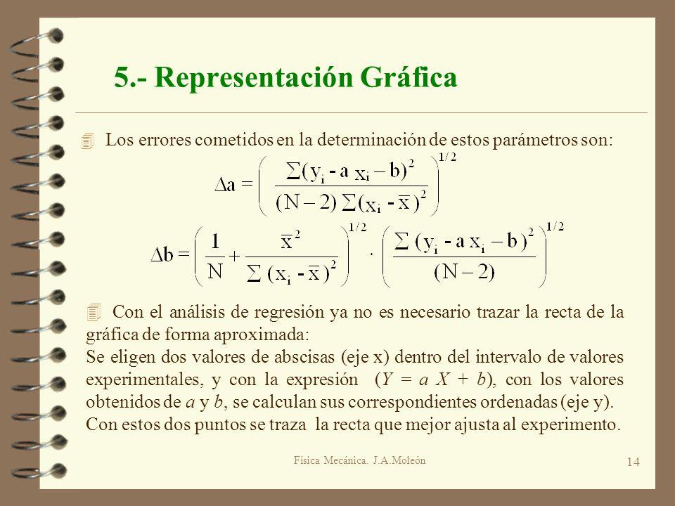 5.- Representación Gráfica