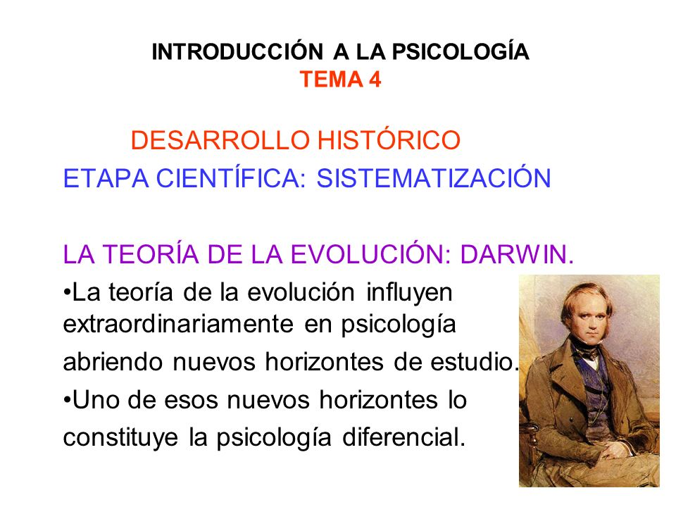 INTRODUCCIÓN A LA PSICOLOGÍA TEMA 4