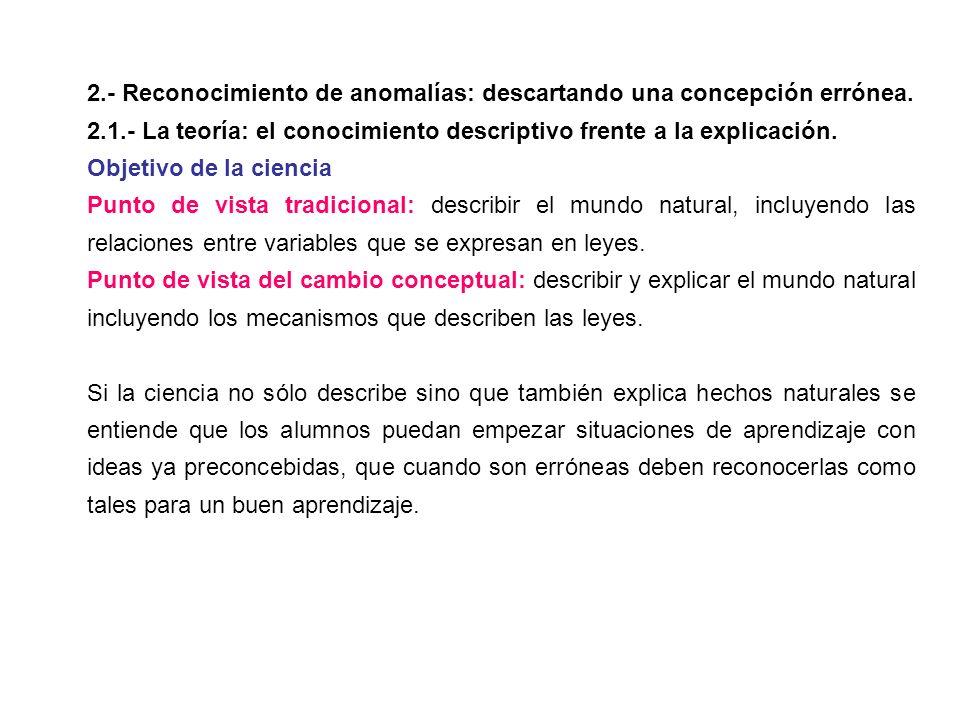 2.- Reconocimiento de anomalías: descartando una concepción errónea.
