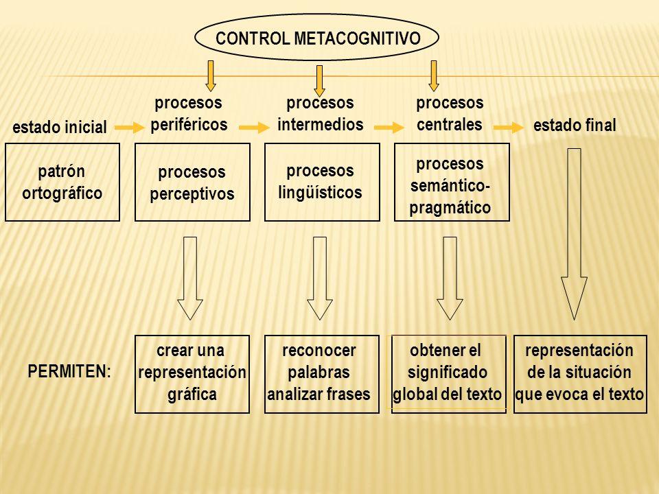 CONTROL METACOGNITIVO