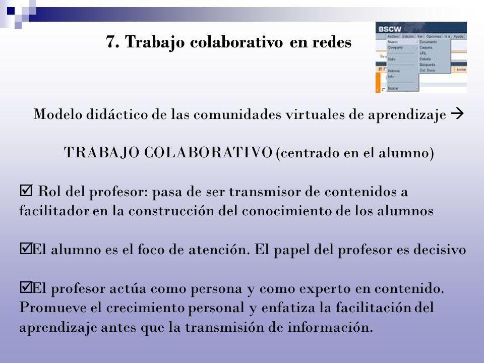 7. Trabajo colaborativo en redes