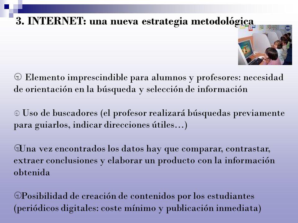 3. INTERNET: una nueva estrategia metodológica