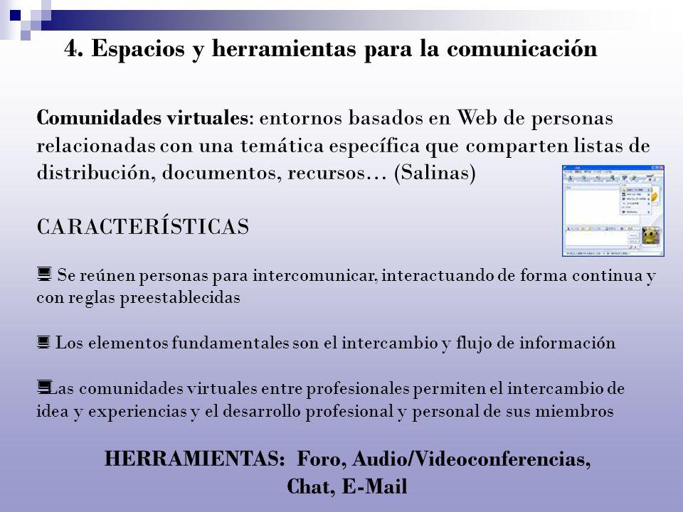 4. Espacios y herramientas para la comunicación