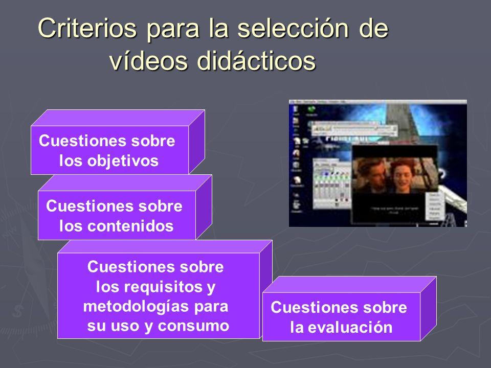 Criterios para la selección de vídeos didácticos