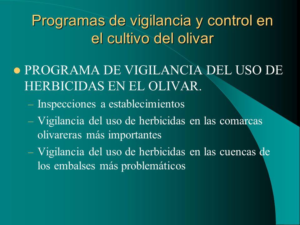 Programas de vigilancia y control en el cultivo del olivar