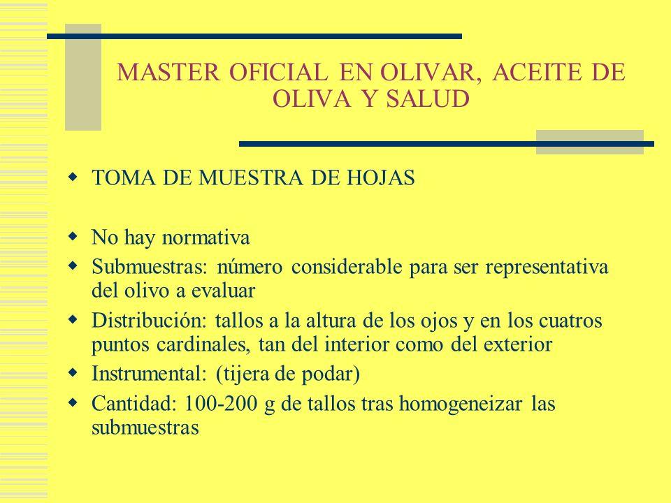 MASTER OFICIAL EN OLIVAR, ACEITE DE OLIVA Y SALUD