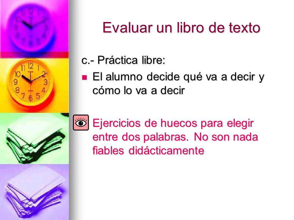 Evaluar un libro de texto