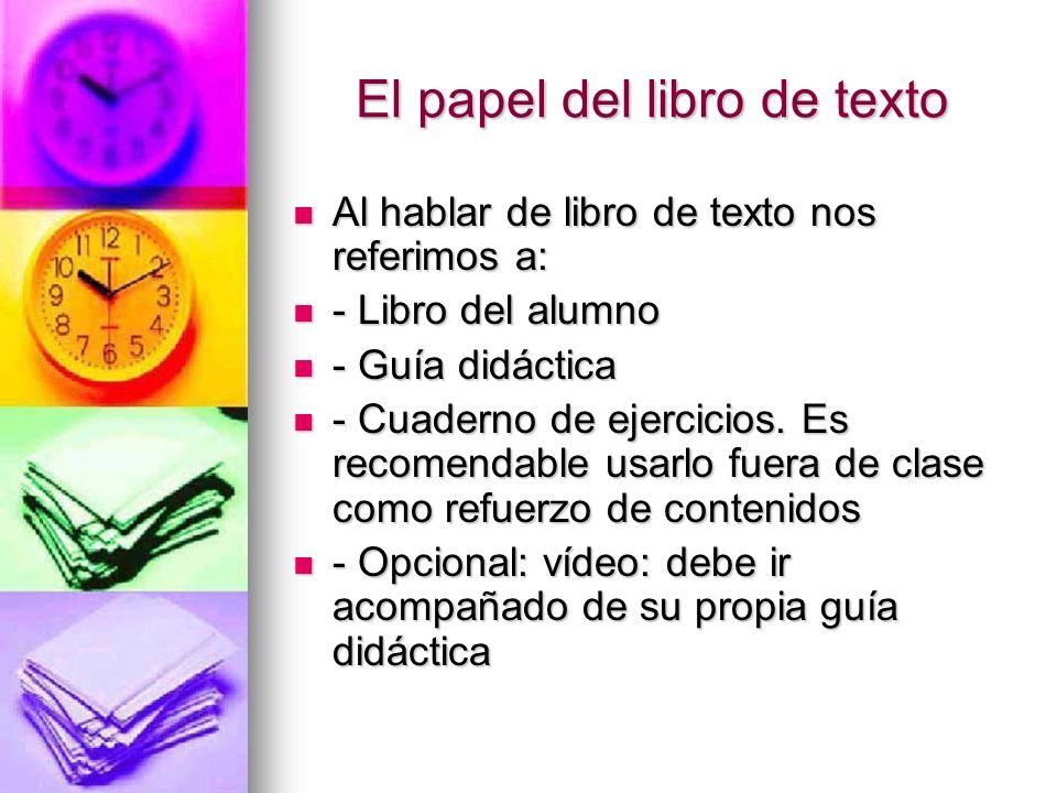 El papel del libro de texto
