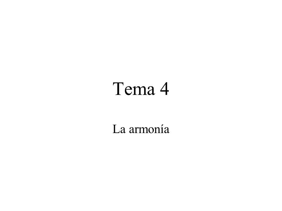 Tema 4 La armonía