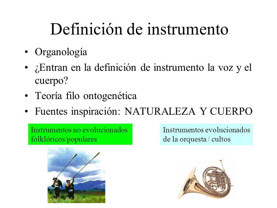 Definición de instrumento