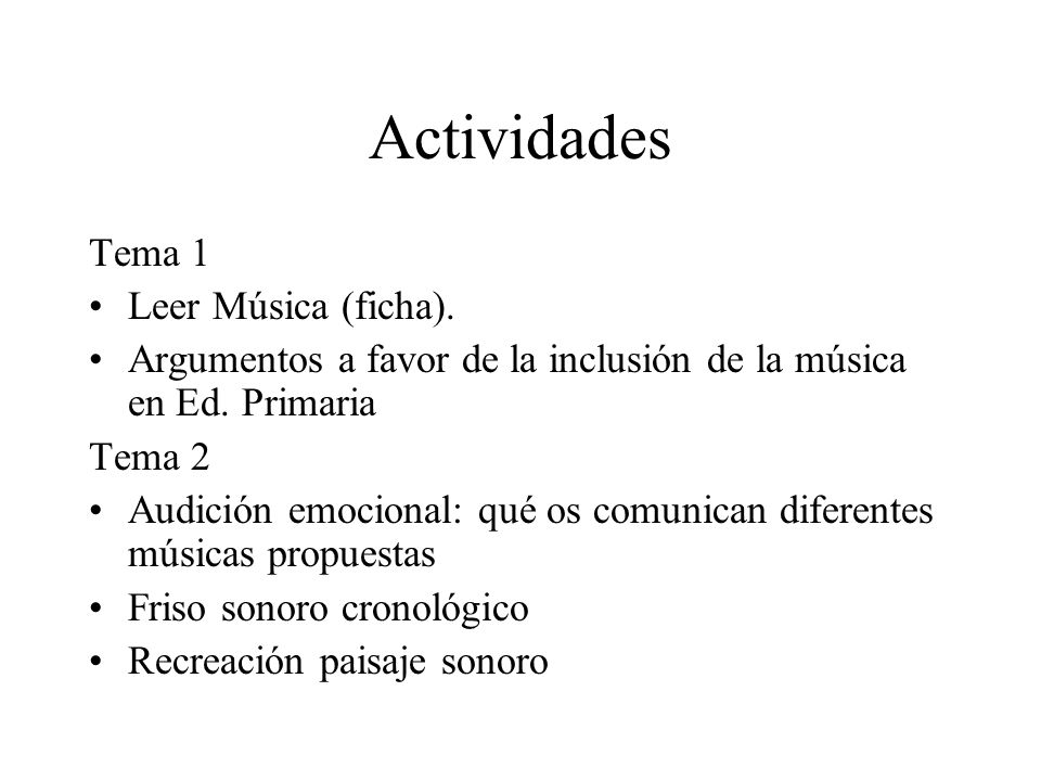 Actividades Tema 1 Leer Música (ficha).