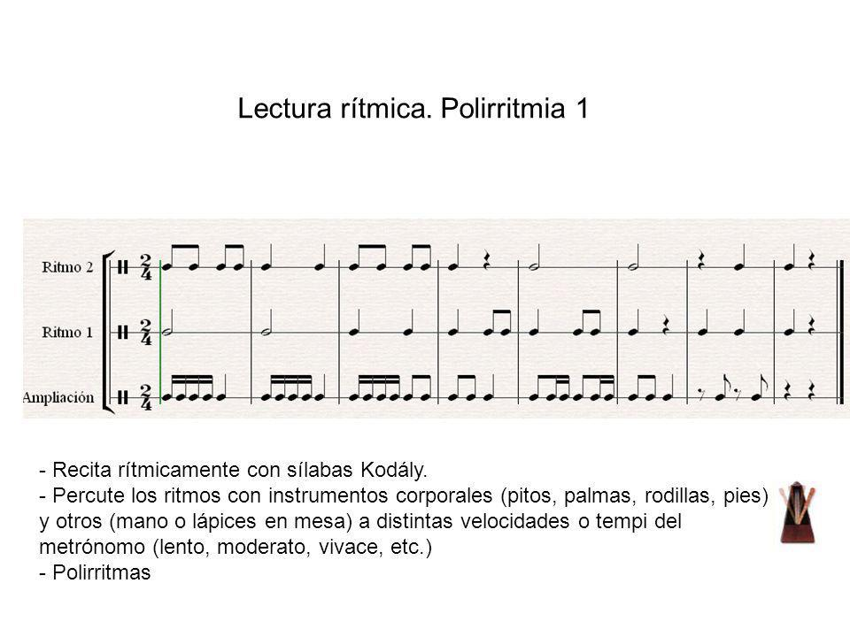 Lectura rítmica. Polirritmia 1