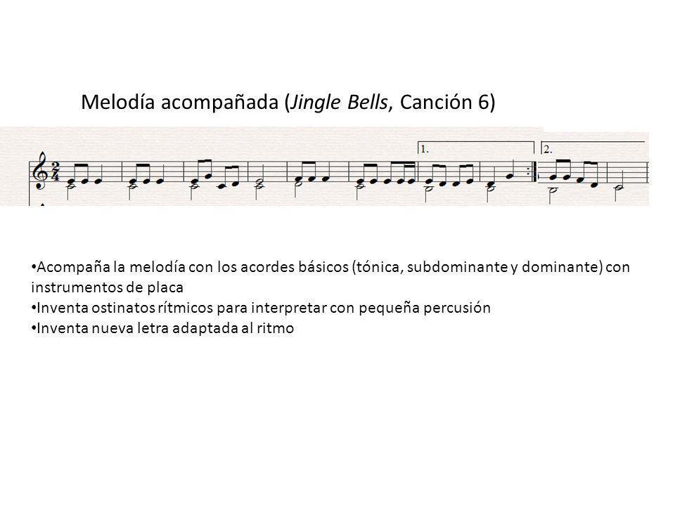 Melodía acompañada (Jingle Bells, Canción 6)