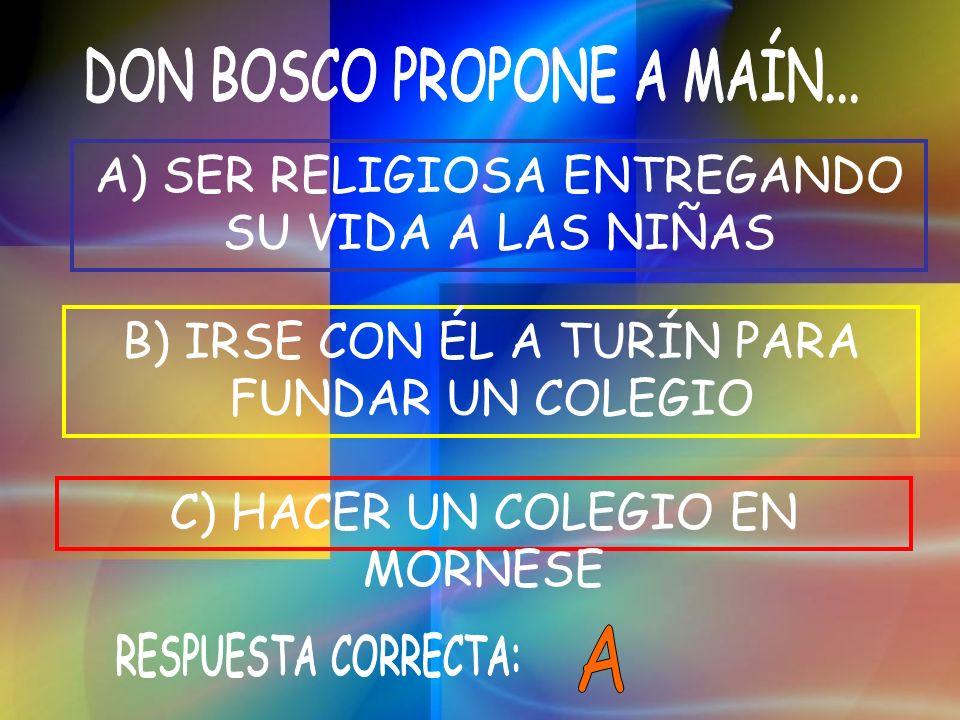 DON BOSCO PROPONE A MAÍN...
