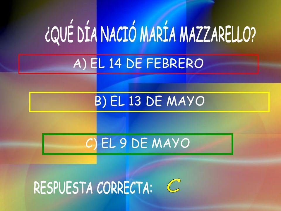 ¿QUÉ DÍA NACIÓ MARÍA MAZZARELLO