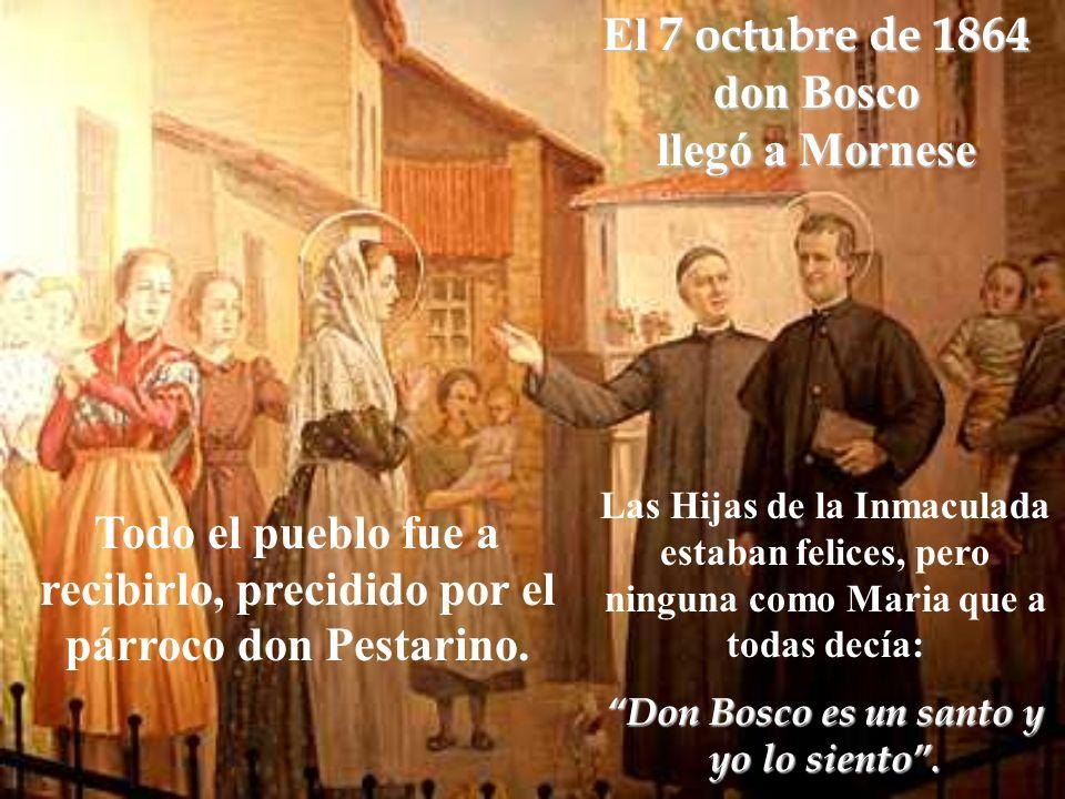 El 7 octubre de 1864 don Bosco llegó a Mornese