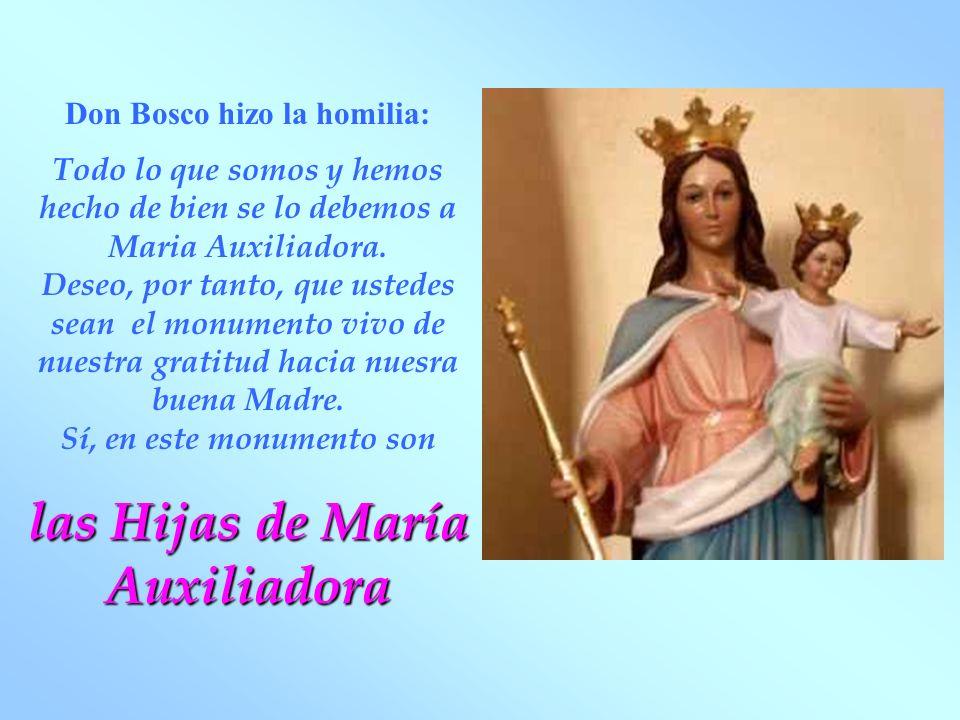 Don Bosco hizo la homilia: las Hijas de María Auxiliadora