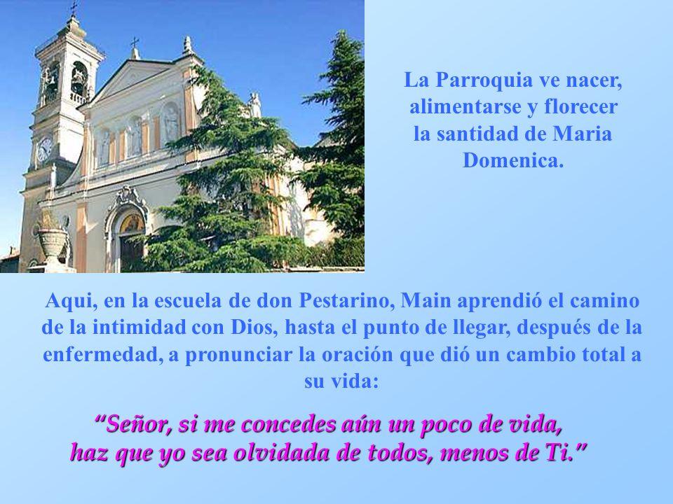 La Parroquia ve nacer, alimentarse y florecer la santidad de Maria Domenica.