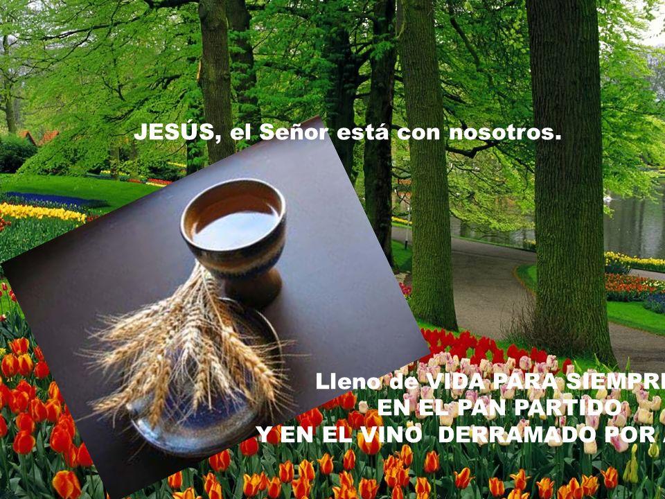 JESÚS, el Señor está con nosotros.