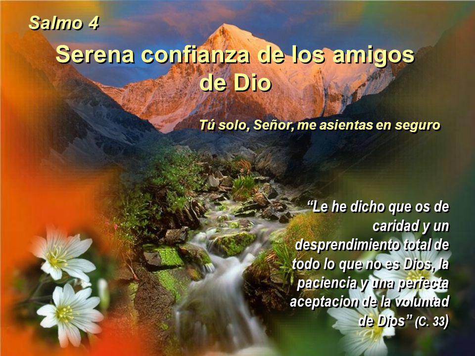 Serena confianza de los amigos de Dio