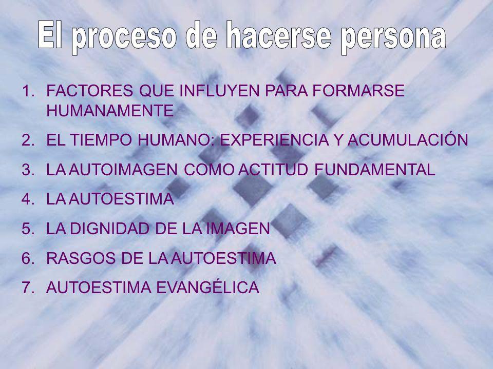 El proceso de hacerse persona