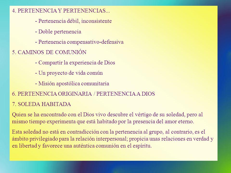 4. PERTENENCIA Y PERTENENCIAS...