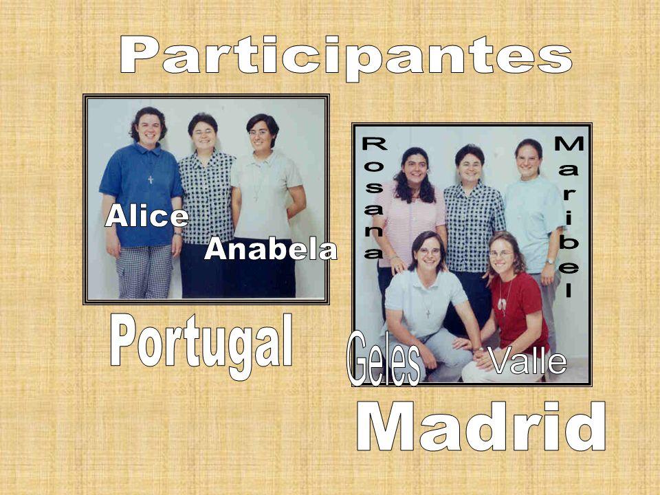 Participantes Rosana Alice Maribel Anabela Portugal Geles Valle Madrid