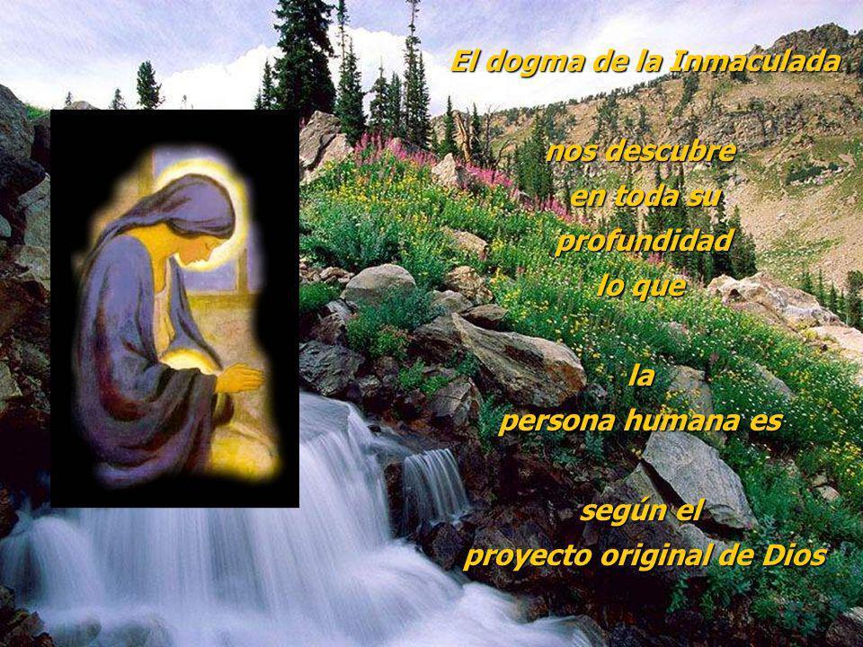 El dogma de la Inmaculada proyecto original de Dios