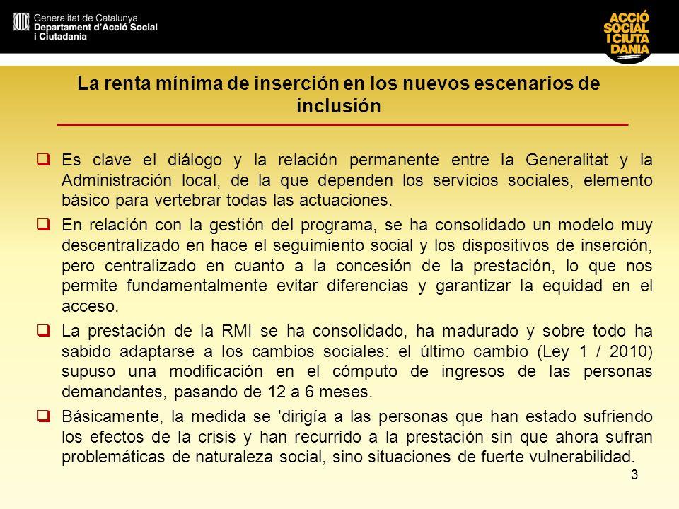La renta mínima de inserción en los nuevos escenarios de inclusión