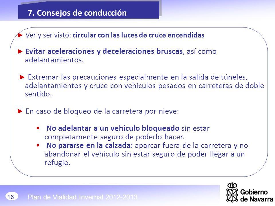 7. Consejos de conducción