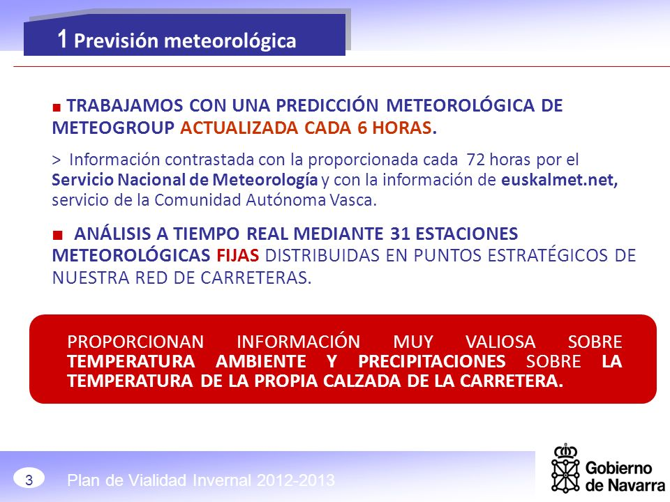 1 Previsión meteorológica
