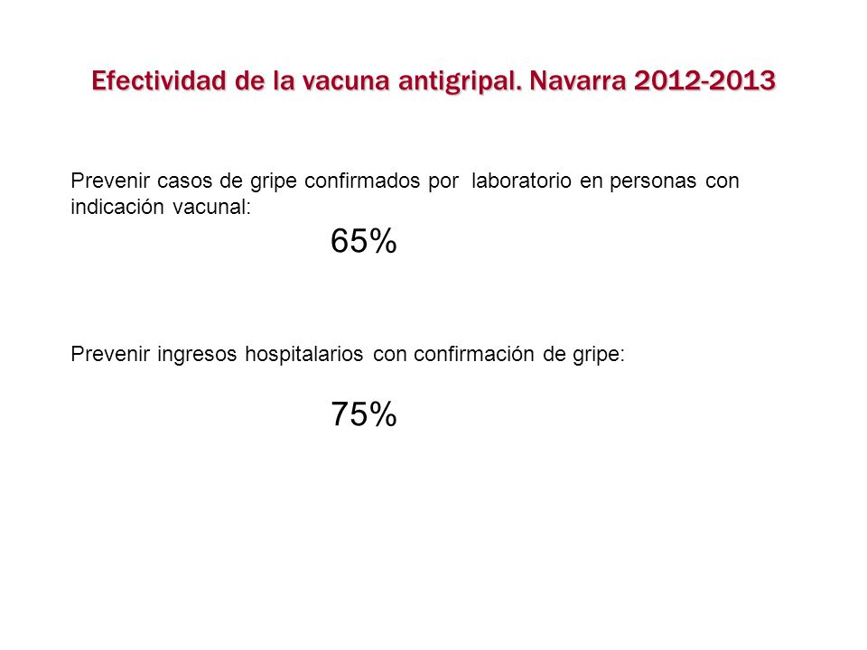 Efectividad de la vacuna antigripal. Navarra 2012-2013