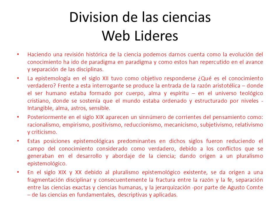 Division de las ciencias Web Lideres